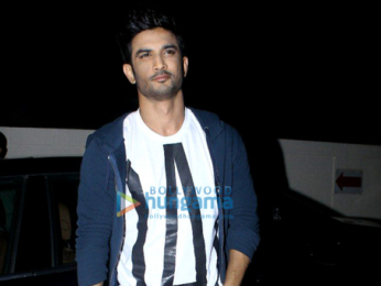 Sushant Singh Rajput and others snapped at the screening of 'Hindi Medium'