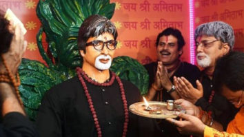 Wait what! Fans install life size statue of Amitabh Bachchan in a temple in Kolkata