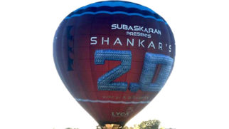 100 FOOT AIR BALLOON Kickstarts Promotional Campaign for Rajnikanth's 2.0