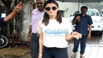 Alia Bhatt snapped post meeting at Vishesh Films' office