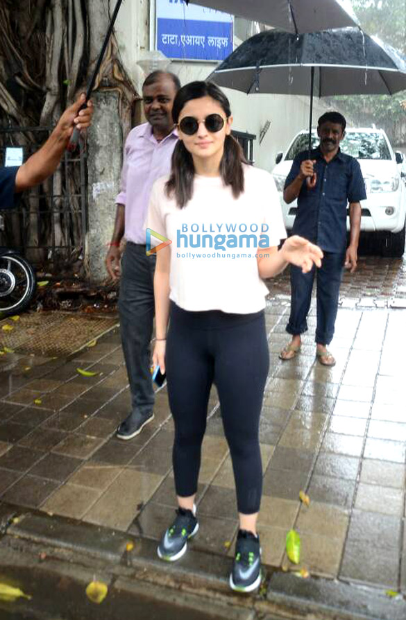 Alia Bhatt snapped post meeting at Vishesh Films' office