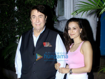 Ameesha Patel, Randhir Kapoor and Sahil Shroff snapped post dinner