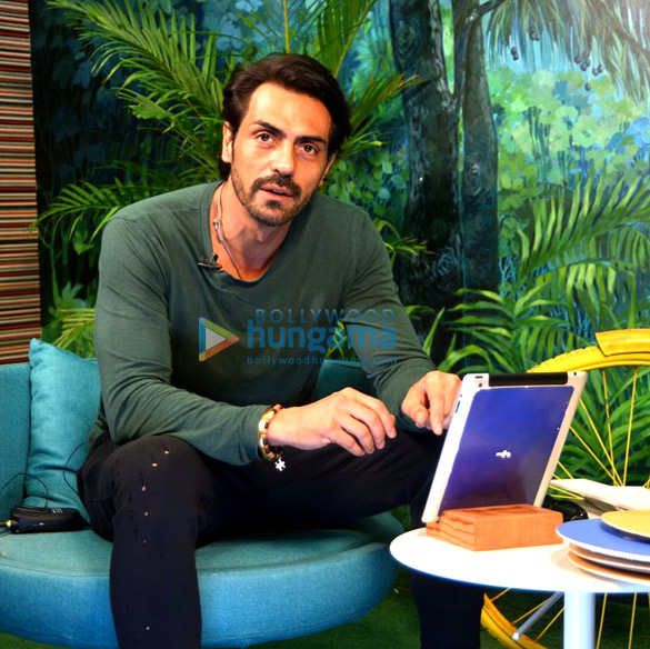 Arjun Rampal launches the Daddy song at the Facebook Office