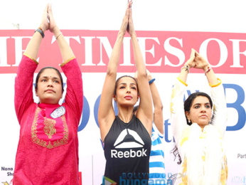 Celebs grace the International Yoga Day celebration with children of Maharashtra farmers who committed suicide