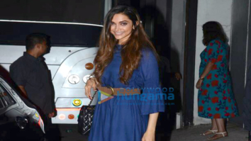 Deepika Padukone snapped post ad shoot in Mumbai today