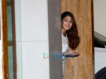 Harshvardhan Kapoor, Rhea Chakraborty and Sara Ali Khan snapped at Saif Ali Khan's and Kareena Kapoor Khan's house