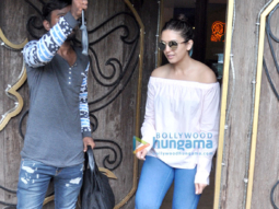 Huma Qureshi and Rhea Chakraborty snapped post a spa session in Juhu