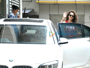 Kangna Ranaut snapped post sword fight rehearsals for her movie Manikarnika