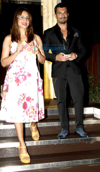 Karan Singh Grover and Bipasha snapped post dinner at Arth Lounge
