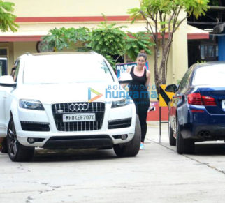 Kareena Kapoor Khan, Amrita Arora, Shahid Kapoor, Bipasha Basu, and Karan Singh Grover snapped outside the gym