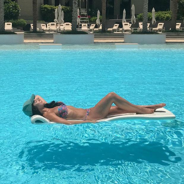 Lauren Gottlieb shows off her perfect body in a bikini in Dubai