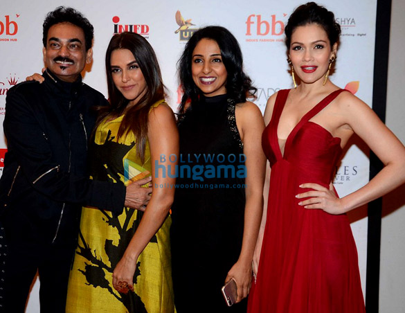 Neha Dhupia and Waluscha De Sousa at Miss India event in Mumbai
