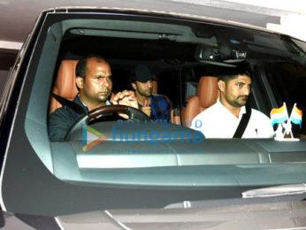 Ranbir Kapoor, Sidharth Malhotra, Alia Bhatt, Aditya Roy Kapur, Arjun Kapoor & Prabhas snapped post party at Karan Johar's house