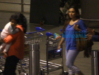 Rani Mukherji & Adira return from their holidays in Dubai