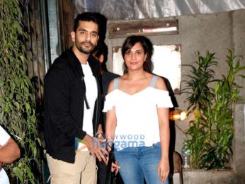 Richa Chadda and Angad Bedi snapped at Pali Village Cafe