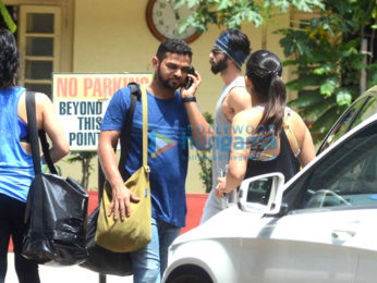 Shahid Kapoor, Mira Rajput, Kareena Kapoor Khan and Amrita Arora snapped at the gym