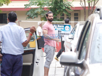 Shahid Kapoor snapped at the gym today