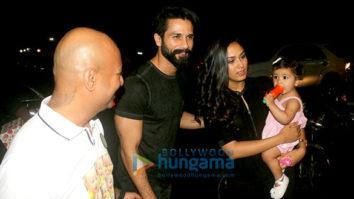 Shahid Kapoor, Mira Rajput-Kapoor and Misha Kapoor snapped at the birthday party of Hakim Aalim's son