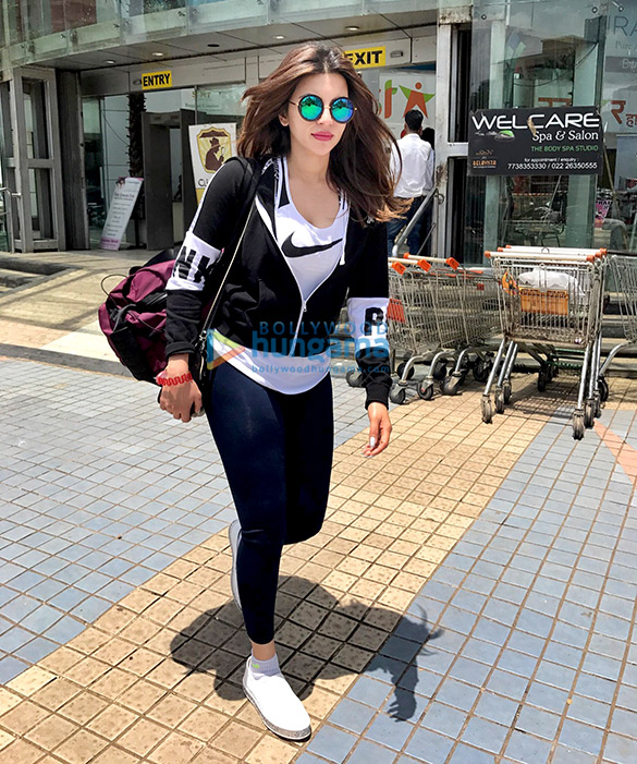 Shama Sikander spotted outside the gym