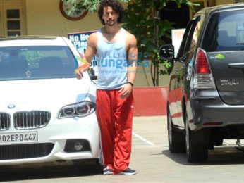 Tiger Shroff snapped post his gym session in Bandra
