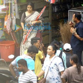 On The Sets Of The Movie Tumhari Sulu