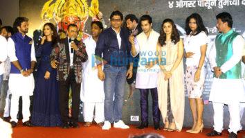 Varun Dhawan and Alia Bhatt grace the music launch of the Marathi movie 'Bikhari'