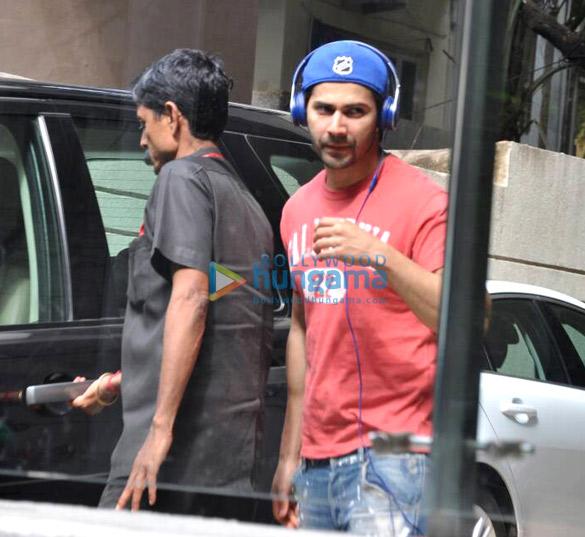 Varun Dhawan snapped at his office in Juhu
