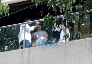 Vikramaditya Motwane and Nikhil Advani snapped at Saif Ali Khan's house