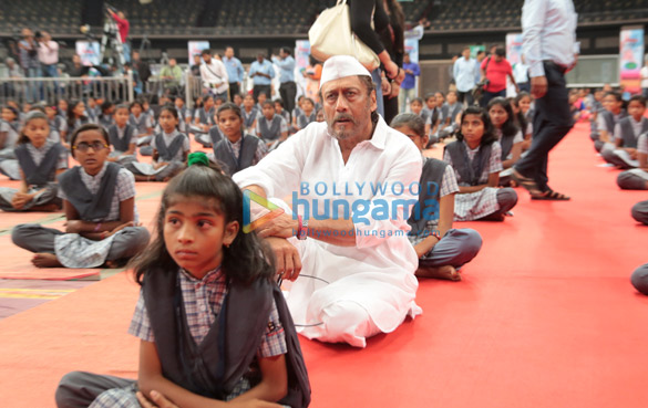 World Yoga Day celebration with around 650 children of those Farmers of Maharashtra who has committed suicide