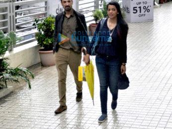 Rahul Dev and Mughda Godse snapped post shopping in Juhu