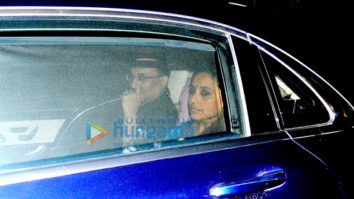 Aditya Chopra, Rani Mukherjee and Pamela Chopra snapped post a family dinner in Bandra