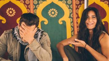 CUTE Salman Khan hides his face blushing with Katrina Kaif on sets of Tiger Zinda Hai