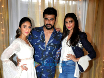 Cast and crew of the film 'Mubarakan' grace the promotions of the film at JW Marriott Juhu