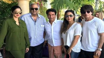 Check out Shah Rukh Khan and Gauri Khan meet Sridevi and Boney Kapoor in Los Angeles