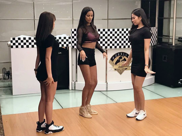HOT! POONAM PANDEY teaches some SEXY dance steps to Indonesian models!