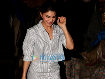 Jacqueline Fernandez snapped at Mount Mary Church in Bandra post prayers