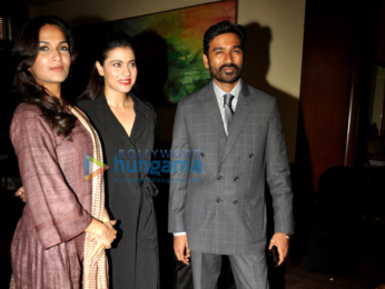 Kajol, Dhanush promote VIP 2 in Mumbai