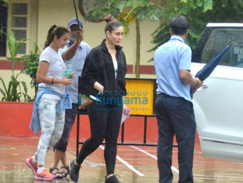 Kareena Kapoor Khan, Amrita Arora snapped at the gym today