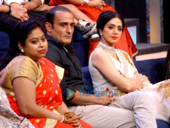 Promotions of the film 'Mom' on the sets of 'Sa Re Ga Ma Pa L'il Champs'