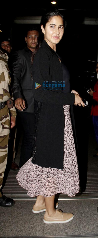 Ranbir Kapoor and Katrina Kaif depart to promote their film 'Jagga Jasoos' in Delhi