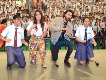 Ranbir Kapoor and Katrina Kaif promote their film Jagga Jasoos at Ryan International School