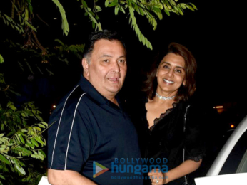 Rishi Kapoor, Neetu Singh and Riddhima Kapoor Sahani snapped post Neetu Singh's birthday celebrations