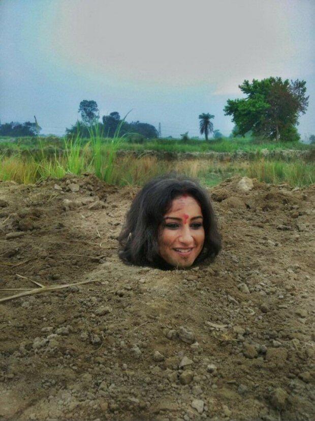 SHOCKING Divya Dutta buried neck-deep in mud for 3 hours for Babumoshai Bandookbaaz