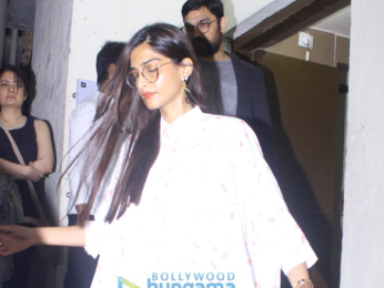 Sonam Kapoor snapped post a movie screening