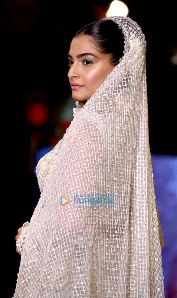 Sonam Kapoor walks for Abu Jani & Sandeep Khosla at 'Shaadi By Marriott' showcase