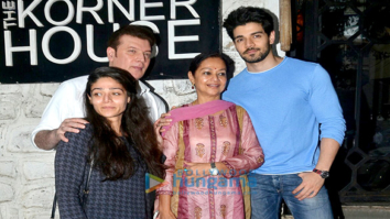 Sooraj Pancholi & Family snapped post lunch at The Korner House