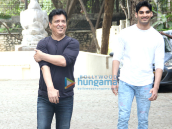 Suniel Shetty spotted with his son Ahan at Sajid Nadiadwala's residence