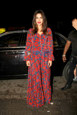 The ever stunning Priyanka Chopra was snapped with others when they attended her manager Mrinal's birthday bash at 'The Bandra Project'