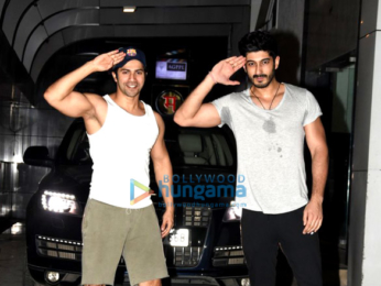 Varun Dhawan and Mohit Marwah snapped post gym in Bandra
