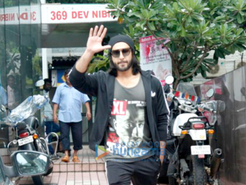 Ranveer Singh snapped post gym